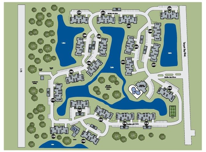 TGM Malibu Lakes Apartments Map
