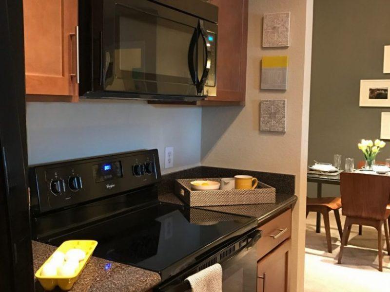 TGM Malibu Lakes Apartments Kitchen Island