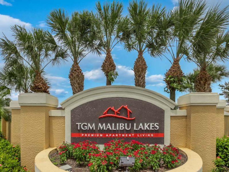 TGM Malibu Lakes Apartments Monument site